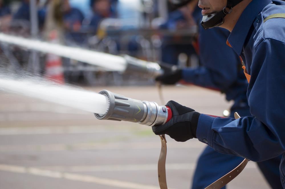 <p>VR消火訓練シミュレータ 防災教育のための施設へ設置</p>