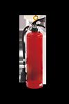 実物の消火器を使用